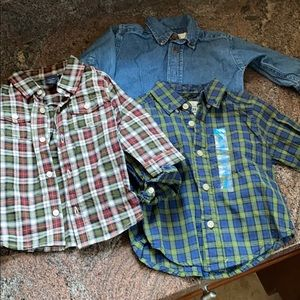 3 baby button down tops